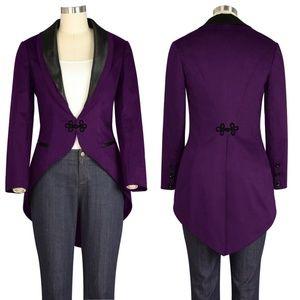Jackets & Blazers - Plus Size Long Tail Jacket Coat Gothic Cosplay